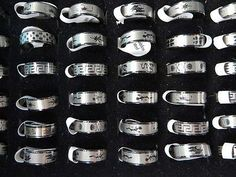 *US Seller*lot of 10 Wholesale men's jewelry stainless steel rings costume ring