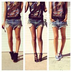 .@elle_ferguson | Cant live without my denim shorts