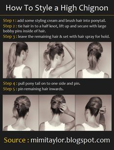 How To Style a High Chignon when I'm feeling Jackie-Oish