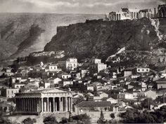 View of the Acropolis from Thissio, Frederic Boissonnas Greece Pictures, Old Pictures, Old Photos, Vintage Photos, My Athens, Athens Greece, Greece Trip, Athens Acropolis, Parthenon