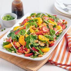 Salade d'amour pamplemousse et fraises - 5 ingredients 15 minutes Grain Free, Cobb Salad, Free Food, Recipies, Vegan, Allergies, Dressing, Dessert, Grapefruit Salad