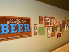LOCAL ART AT PUBLIC! On display now!  Local artist Dean Tawwater just installed his new beer themed collection of hand lettered wood signs. Stop by for artist info, pricing and to see what Dean could do for YOUR brew-cave.  Wahoo! Stuff on the walls...Local art, none the less!