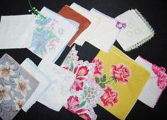 Handkerchief Pretties Mixed Collection of by CheekyVintageCloset, $34.50