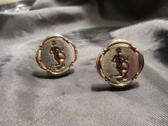 Aquarius Silver and Gold Tone Cuff Links by DresdenCreations, $20.00