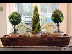 Easy Moss Topiaries!