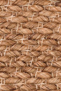 Lapu Lapu handwoven abaca rug in Bark colorway, by Merida.