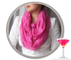 PINK INFINITY SCARF  fuchsia  viscose scarf  by CharmeParisien, €15.00