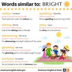 Words similar to: Bright