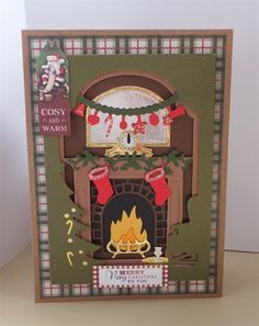 Cosy & Warm Fireplace Card | docrafts.com