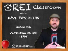 Today, Dave Payerchin talks to us about the type of answering system he uses and the script they go off in order to get the information you need.