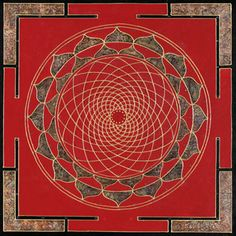 Spiritual art of Paul Heussentamm Square Manadalas Red magic mandala 2 Red and gold has for centuries exemplified the sacred art of Buddhism. After painting several using the colors red and gold, it creates some form of magic that the soul sees as Beauty.