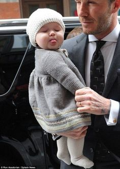 arent you the cutest thing? Harper Seven Beckham