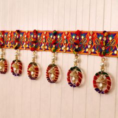 Multi C olored Traditional Bandhanwar Diwali Decoration Items, Diwali Decorations At Home, Door Hanging Decorations, Festival Decorations, Diwali Diy, Diwali Craft, Diwali Gifts, Indian Room Decor, Ganesh Chaturthi Decoration