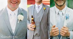 Terno cinza clarinho.... Adoro!  E essa gravata branca: lindo!!!