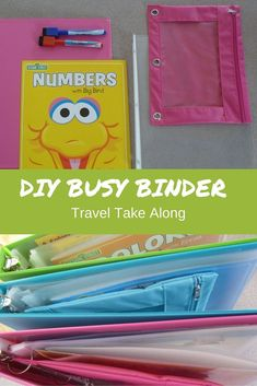DIY Busy binder keeps kids busy on long car rides, or at home. So full of fun and educational stuff it makes entertaining toddlers a breeze in restaurants. Car Ride Activities, Kids Travel Activities, Preschool Activities, Car Activities For Toddlers, Toddler Car, Toddler Travel, Material Didático, Long Car Rides, Busy Boxes