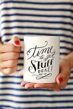 Make no bones about it. Get stuff done with this mug ($16).