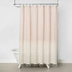 Wide Band Ombre Shower Curtain Copper - Hearth & Hand™ With Magnolia : Target Rose Gold Shower Curtain, Yellow Shower Curtains, Shower Curtain Rings, Bathroom Shower Curtains, Shower Stall Curtain, Boho Bathroom, Bathroom Ideas, Beige Bathroom, Bathroom Inspo