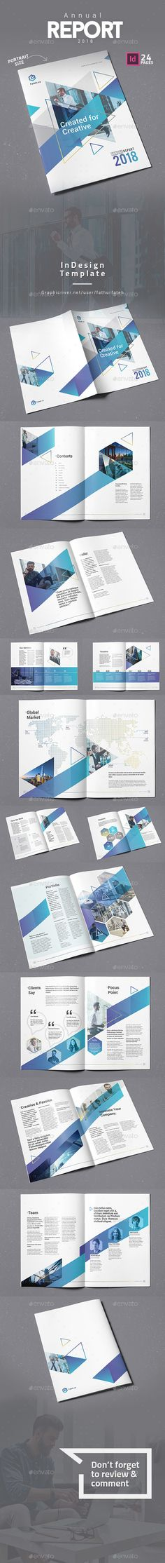 Annual Report 2018 template is a 24 pages Indesign brochure template available in A4 size.Print ready or export and send to clients as a pdf. Simply replace the logo and brand colors with your own. THIS PRODUCT INCLUDES24 pages Indesign Document A4 size Compatible with Adobe Indesign CS4, CS5, CS5