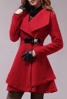 turn down collar coat