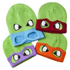 Men's Teenage Mutant Ninja Turtle Hats with Masks Collection