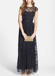 Can't wait to wear this black dotted gown to the next event.