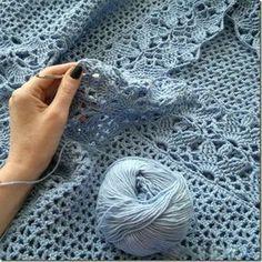 ergahandmade: Crochet Baby Blanket + Diagram
