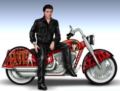 Elvis Presley's Riding With The King - Handcrafted Sculpture