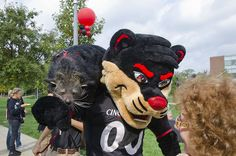 Lucy the Bearcat(s) visiting UC Blue Ash!