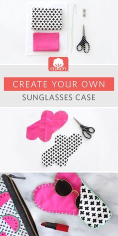 The key to no longer losing your sunnies: a custom cotton sunglasses case you won't want out of your sight. Courtesy of @ispydiy.