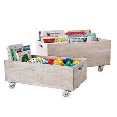 Rolling Storage Crates – Whitewashed #serenaandlily