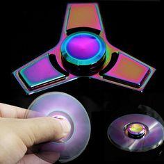 Hot Sale Metal Tri Fidget Spinner Hand Finger Relief Focus ADHD Autism Kids/Adults Desk Fidget Toys