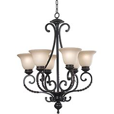 @Overstock.com - Breverd 6-light Oil Rubbed Bronze Chandelier - Add a touch of elegance to your home with this glass-shaded chandelier. The oil-rubbed bronze brings a timeless appeal to any room's decor, and the scrollwork on the arms of the chandelier gives it old-world charm.  http://www.overstock.com/Home-Garden/Breverd-6-light-Oil-Rubbed-Bronze-Chandelier/6286095/product.html?CID=214117 $193.49