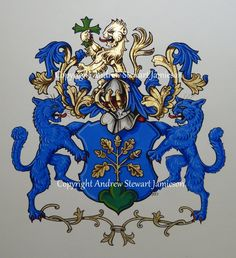 Coats of Arms, Heraldry, Heraldic Art & Illuminated Manuscripts painted by English Artist Andrew Stewart Jamieson in 2012.