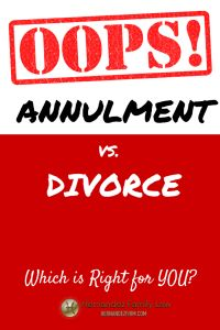 Wondering whether an annulment or a divorce is the right thing for you? In this post, we help you get that question sorted out by teaching you about the traditional grounds for an annulment and giving a brief overview of how courts treat annulments vs. divorces. Want to learn more? Read here: http://www.hernandezfirm.com/annulment-vs-divorce/  #annulment #divorce #annulmentvsdivorce