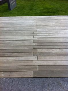 Material Girl & Guy | Young House Love   really like the look of this deck with the zig zag boards