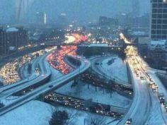 Snow event sparks mind-boggling happenings in an unprepared Atlanta