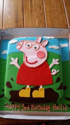 Hailie's Peppa Pig cake - 3rd birthday