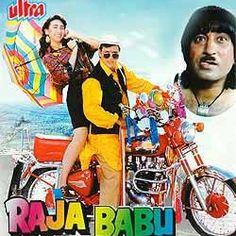 Raja Babu in his iconic style Bollywood Posters, Bollywood Actors, 70s Films, New Hollywood Movies, Hindi Movies Online, Indian Hindi, Karisma Kapoor, Movies Worth Watching, Indian Movies