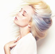 A lil hidden rainbow in your blonde locks. Hair dye love