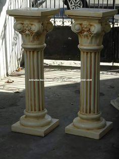 Pilastra 1,00 m. Pilastra 80 cm. #pilastra #coluna #decor #artesanato #rio #riodejaneiro #rj #errejota #venda #aluguel