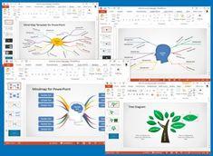 قوالب باور بوينت لصنع خرائط المفاهيم Concept Map Template Concept Map Tree Map