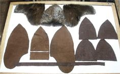 fur hat pattern pieces and hat pics