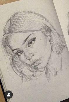 drawings of friends Girl Drawing Sketches, Art Drawings Sketches Simple, Pencil Art Drawings, Realistic Drawings, Cool Drawings, Portrait Sketches, Art Du Croquis, Arte Sketchbook, Drawing People