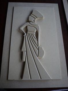 Clay Wall Art, Mural Wall Art, Hanging Wall Art, Canvas Art Projects, Clay Art Projects, Cardboard Crafts, Clay Crafts, Afrique Art, Folk Art Flowers