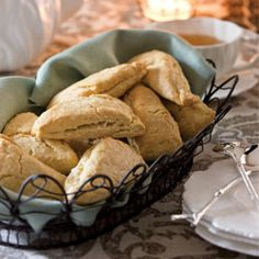 Eggnog Scones    Combining a holiday favorite with a teatime staple, our Eggnog Scones hit the mark.