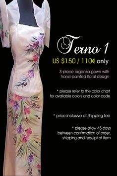 a modern take to the classic Filipiniana a modern take to the classic Filipiniana Modern Filipiniana Gown, Filipino Fashion, Filipino Culture, Floral Gown, Filipina, Traditional Dresses, Romwe, Wedding Engagement, Floral Design