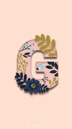 Wallpaper Iphone Neon, Graphic Wallpaper, Galaxy Wallpaper, Iphone Wallpaper, Initial Art, Letter Art, Happy Birthday Honey, Floral Font, Alphabet Wallpaper