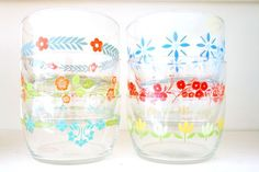 Set of 6 Vintage Flower Storage Bowls $21.60 These come with lids- what a deal!