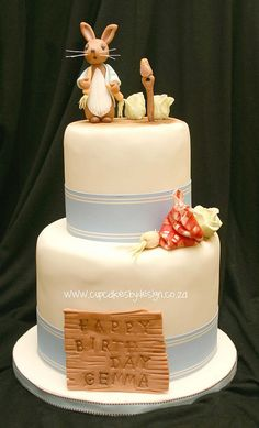 Peter Rabbit Two Tier by Gracescakes, via Flickr