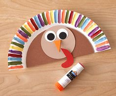 Paper plate Thanksgiving turkey hat